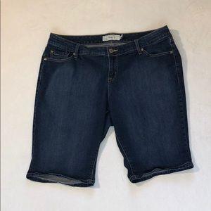 Torrid Bermuda Blue Jean Shorts